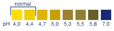 Hüvely pH - kiértékelő színskála